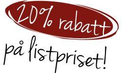 20% rabatt på listpriset!